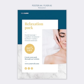 Spa treatment template poster