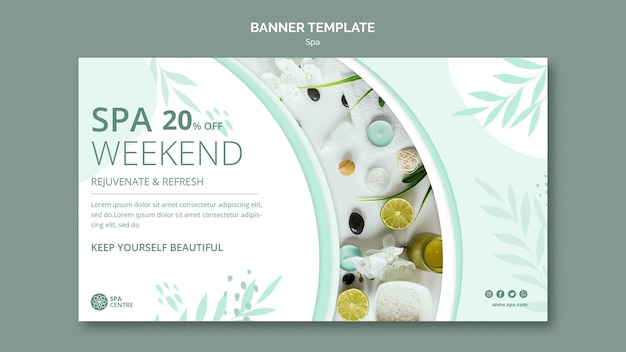 Spa weekend banner template