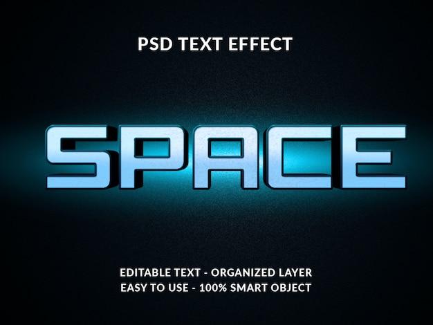 Космический 3d стиль текстовый эффект