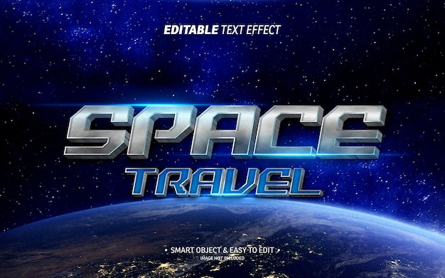 Space travel text effect