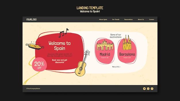 Иллюстрированная целевая страница культуры испании