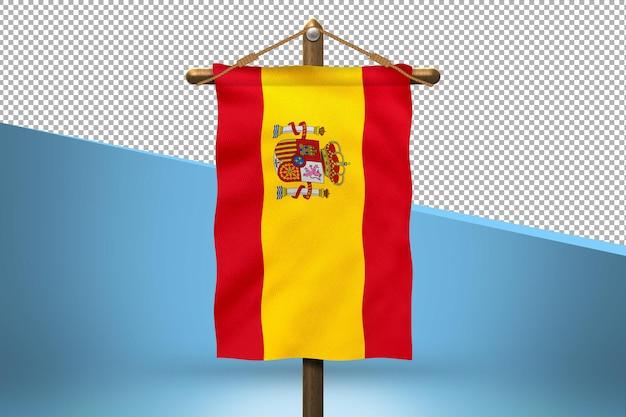 Испания повесить флаг дизайн фона