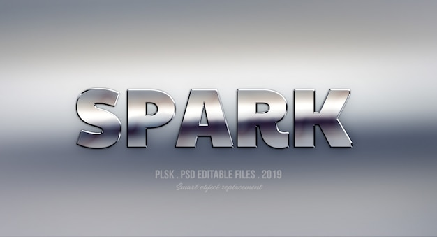 Spark 3d text style effect