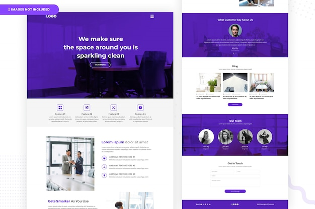 Sparkling clean website page