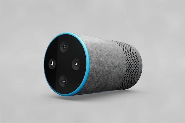 Speaker mockup in cylinder shape