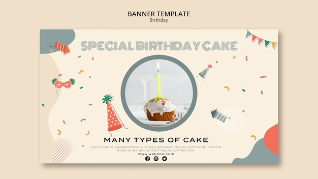 Special birthday banner template