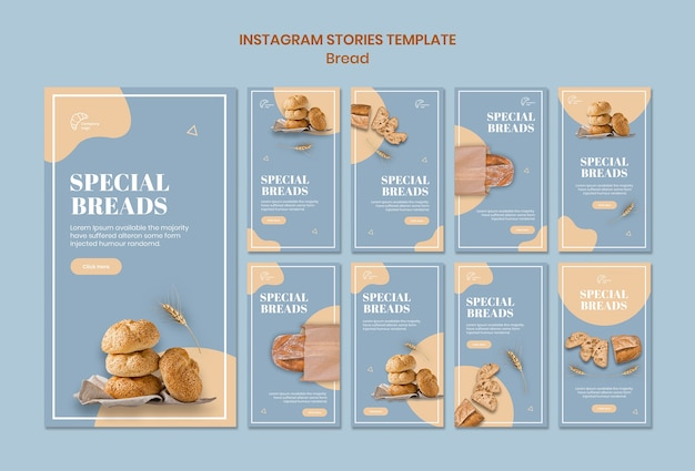 Special bread instagram stories template