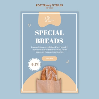 Special bread poster template