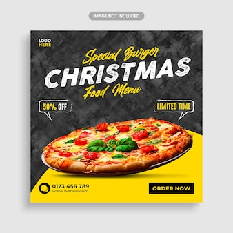 Special burger offer for christmas food banner