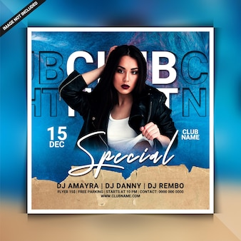 Special club party flyer or social media post