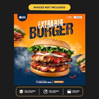 Special delicious burger social media banner post template Premium Psd