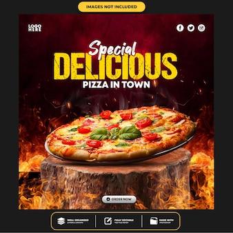 Special delicious burger social media post banner template