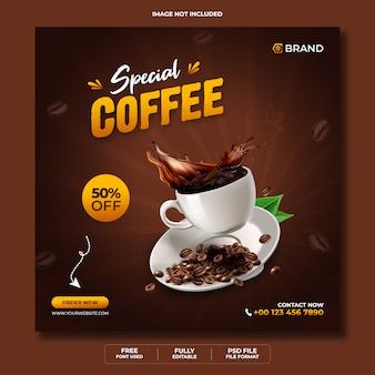 Специальное меню еды продажа рекламный веб-баннер или шаблон баннера instagram