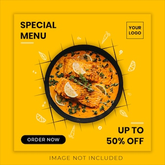 Special food menu social media banner template