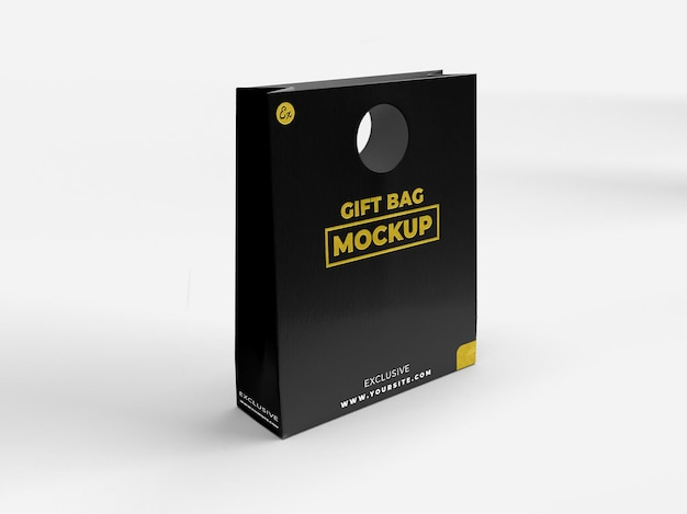 Special gift realistic textured bag for branding and display mockup