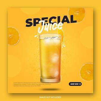 Special juice instagram post template