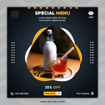 Special menu banner template