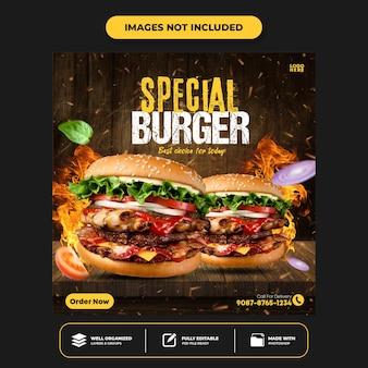 Special menu social media food social media banner post design template instagram