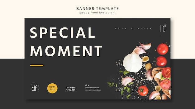 Special moment banner template