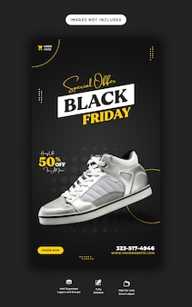 Специальное предложение black friday instagram и facebook story banner template