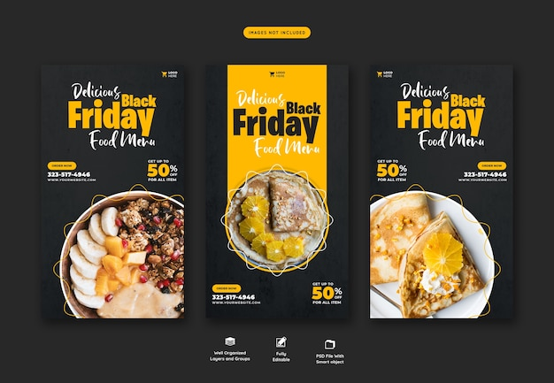 Special offer black friday instagram and facebook story banner template