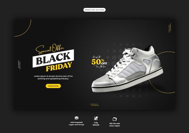 Special offer black friday web banner template