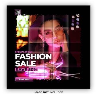Special offer fashion sale social media post premium psd