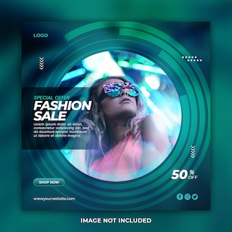 Special offer fashion sale social media post template
