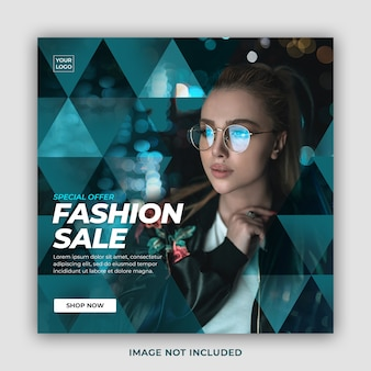 Специальное предложение мода продажа пост в социальных сетях шаблон