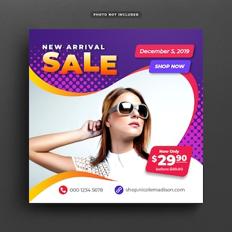 Special offer sale post banner or template