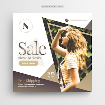Special offer sale social media banner or square flyer template