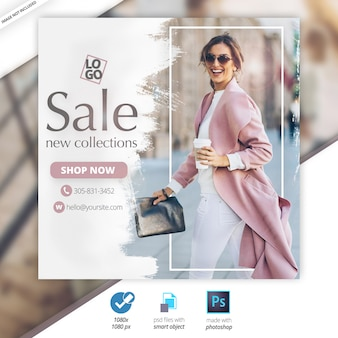 Special offer sale web social media banner