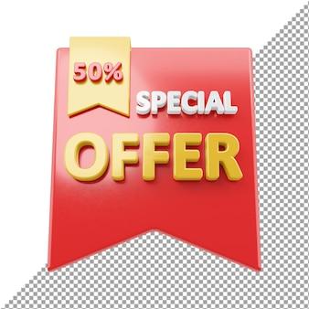 Специальное предложение продать значок 3d-рендеринга изолированные