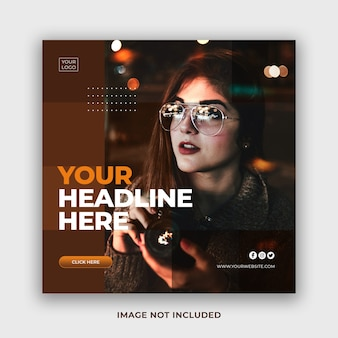 Special offer social media promo banner instagram post template