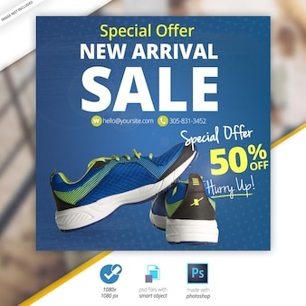Special offer sport sale social banners