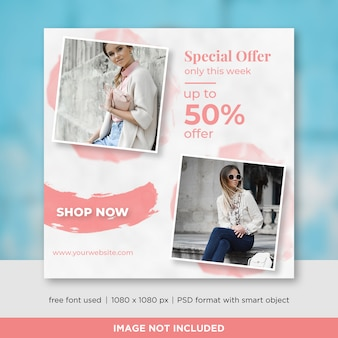 Special offer square banner