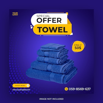 Special offer towel sale post template
