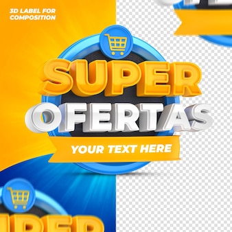 Special offers for brazilian capaigns 3d render