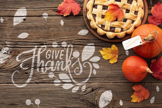 Специальный пирог с яблоком на день благодарения