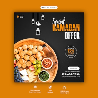 Special ramadan food banner template