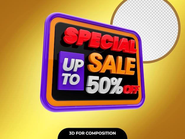 Special sale 3d render