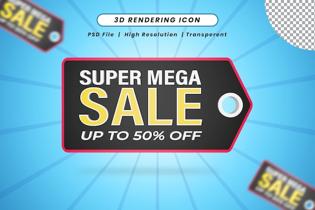 Special sale 50 percent off 3d isolated icon for black friday
