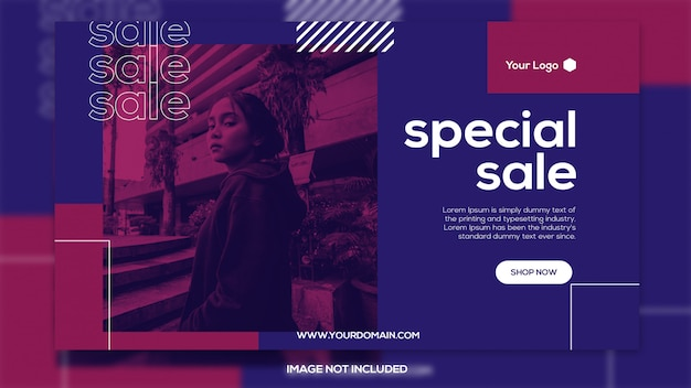Special sale banner template