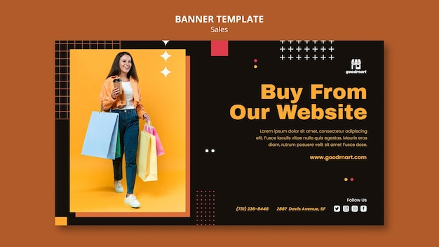 Шаблон специального рекламного баннера