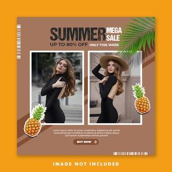 Special summer social media post template