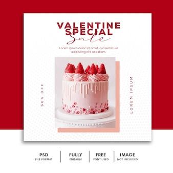 Special valentine cake sale for social media post