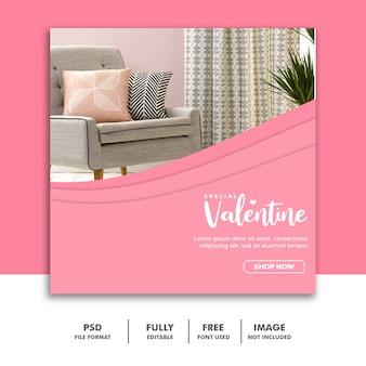 Special valentine furniture sale for social media post