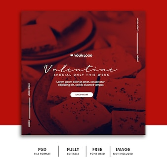 Special valentine post for social media