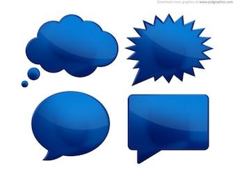 Speech bubbles (PSD)