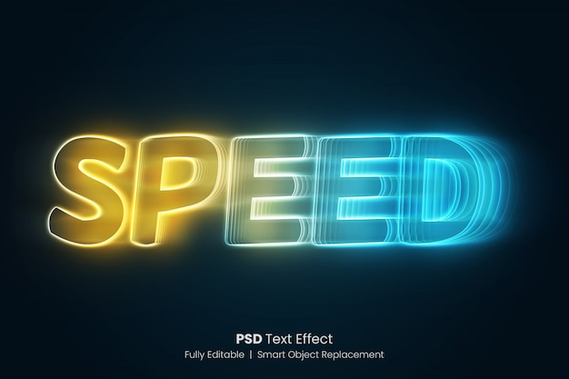 Speed glowing text effect